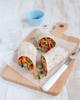 Carrot Tabouli & Hummus Wrap