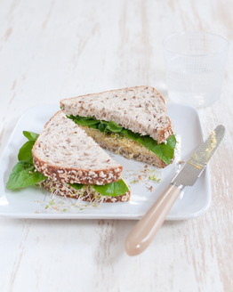 Curried Egg & Sprout Sandwich