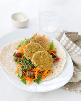 Homemade Falafel Wrap
