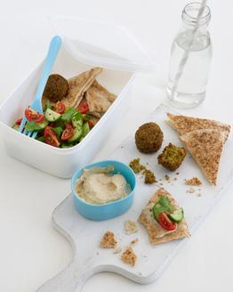 Falafel, Hummus & Cucumber Salad Box