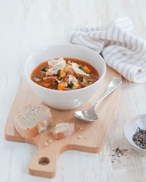 Minestrone with Lentils & Zucchini