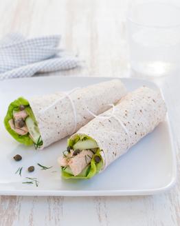 Salmon & Ricotta Wrap