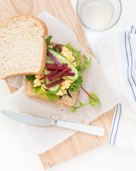 Curried Egg & Salad Sandwich