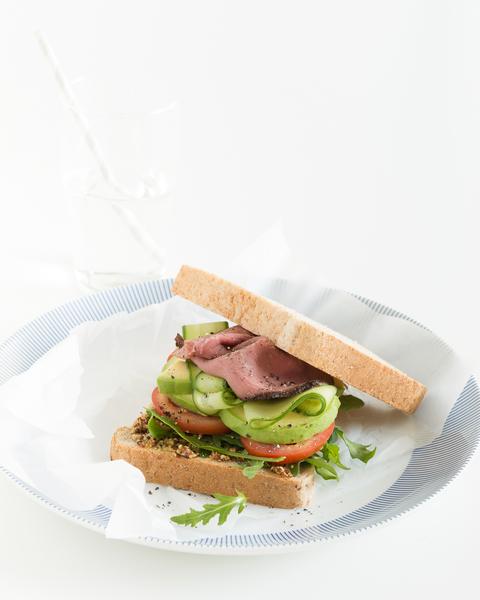 Roast Beef, Avocado & Mustard Sandwich