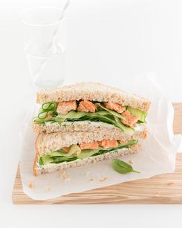 Salmon, Cream Cheese & Dill Sandwich