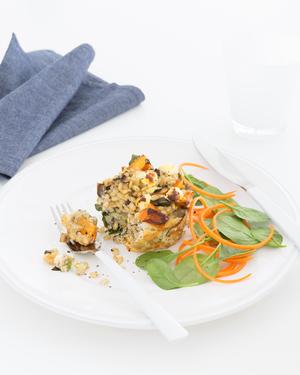 Ricotta, Eggplant and Barley Pies