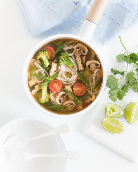 Hot & Sour Tofu Noodle Soup