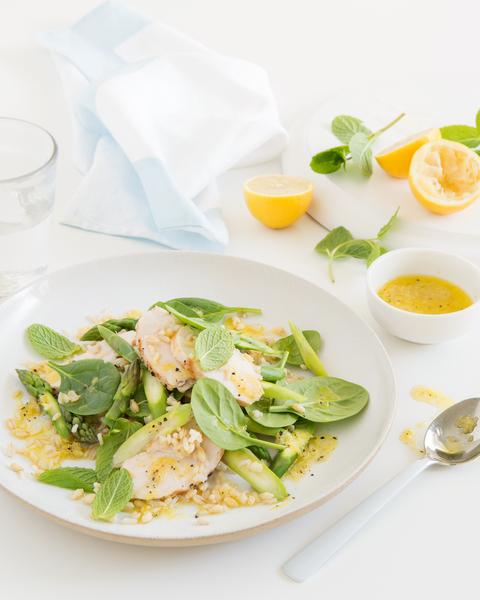 Rice, Barley & Chicken Salad