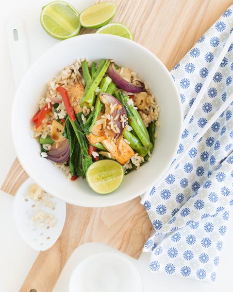 Stir-Fried Tofu & Rice with Lime