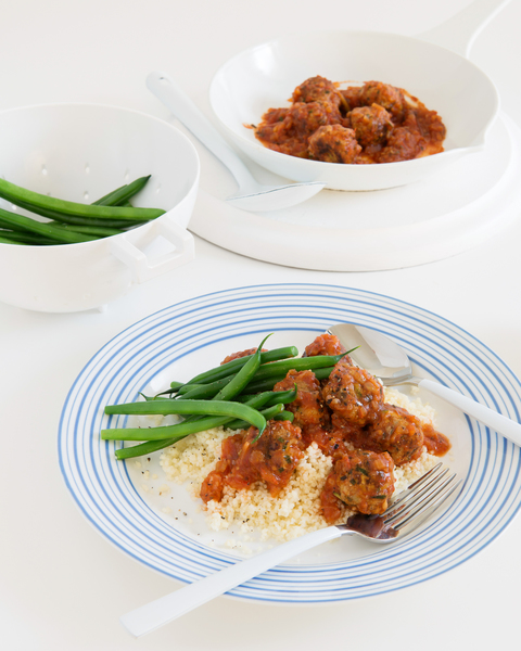 Veal Meatballs with Couscous