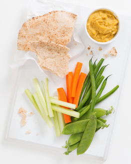 Pumpkin Hummus with Dippers