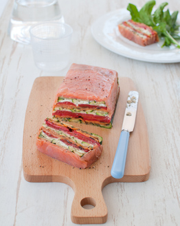 Salmon & Grilled Vegetable Terrine with Ricotta