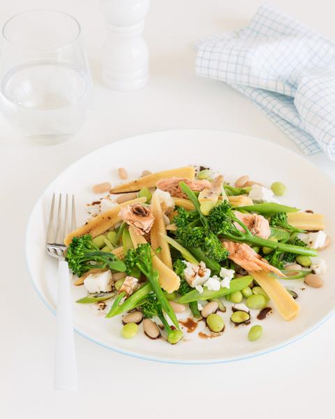 Salmon & Edamame Bean Salad