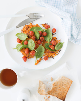 Sweet Potato Rosti with Roasted Cherry Tomatoes