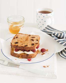 Raspberry & Ricotta Toasted Sandwich