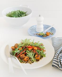Lentil, Kale & Capsicum Salad