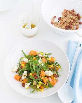 Corn, Bean & Bocconcini Salad