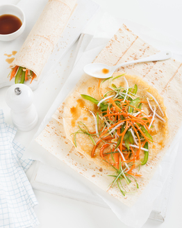 Crunchy Asian Salad Wrap