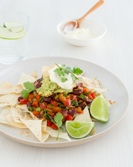 Bean Nachos with Chilli Guacamole