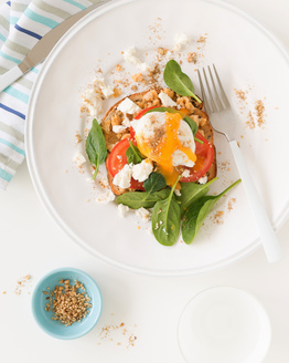 Poached Egg with Chickpeas & Dukkah