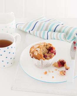 Raspberry, Oat & Almond Muffins