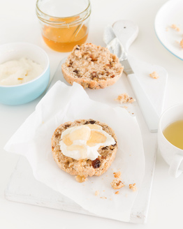 Date & Walnut Scones with Ricotta