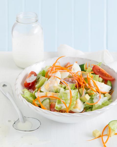 Vegetarian Cobb Salad with Buttermilk Stilton Dressing