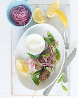 Beef Koftas with Sweet Onions