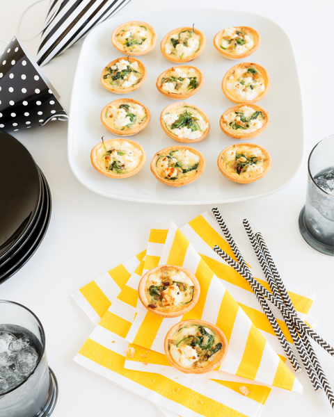 Spinach & Goat's Cheese Quiches