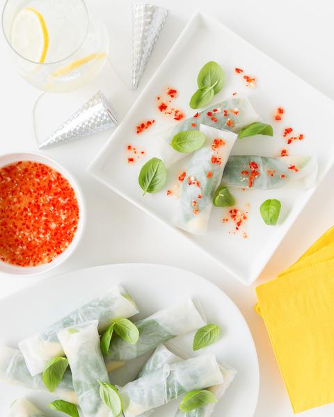 Crab & Cucumber Rice Paper Rolls