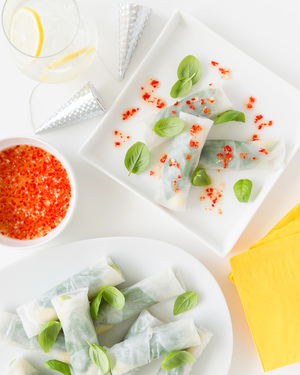 Crab & Cucumber Rice Paper Rolls