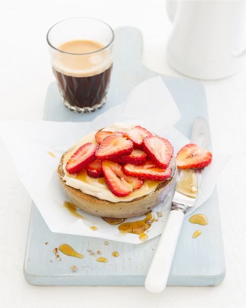 Cream Cheese, Strawberry & Maple Bagel