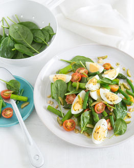Chopped Egg, Green Bean & Asparagus Salad