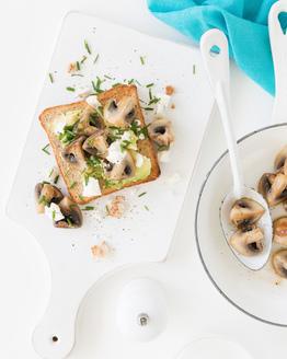 Mushroom & Avocado Toast