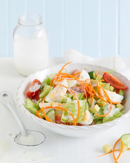 Vegetarian Cobb Salad with Buttermilk Stilton Dressing