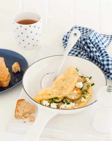 Zucchini & Potato Omelette