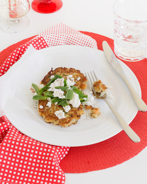 Cauliflower & Chickpea Patties with Feta & Mint