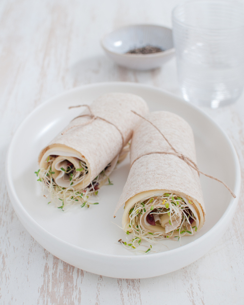 Turkey & Swiss Cheese Wrap with Cranberries