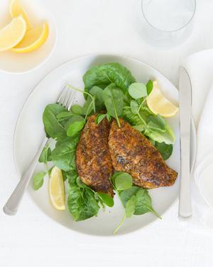 Cajun Fish with Salad