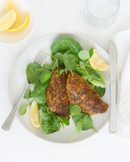 Cajun Fish with Salad