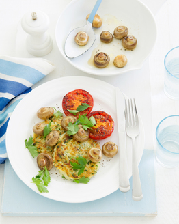 Hash Browns with Mushrooms & Tomatoes