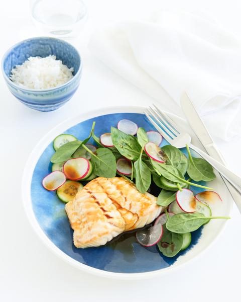 Smoked Fish with Salad