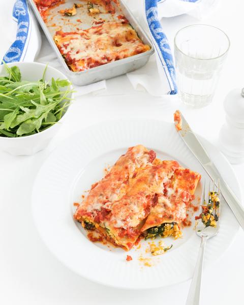 Spinach, Ricotta & Pumpkin Cannelloni
