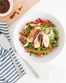 Honey & Soy Chicken with Noodle Salad