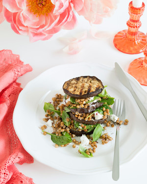 Eggplant Stack with Lentils & Feta
