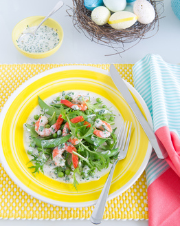 Prawn & Spring Pea Salad with Buttermilk Dressing