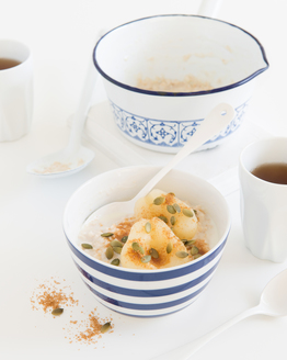 Porridge with Pepitas & Pear