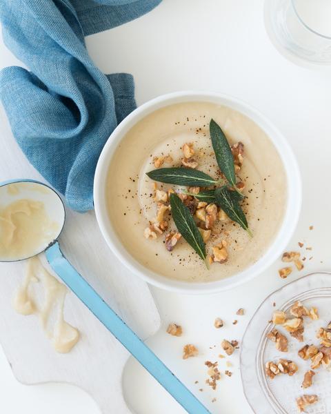 Celeriac & White Bean Soup
